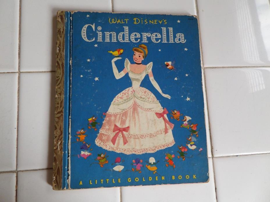 Cinderella, A Little Golden Book,1950(VINTAGE; Disney, Children's Hardcover)