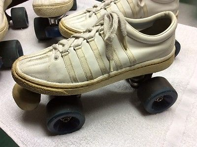 CHICAGO ROLLER SKATES Mounted on K-Swiss Leather Tennis Shoes Woman's size 11