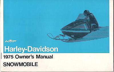 1975 HARLEY DAVIDSON SNOWMOBILE OWNER MANUAL (857)