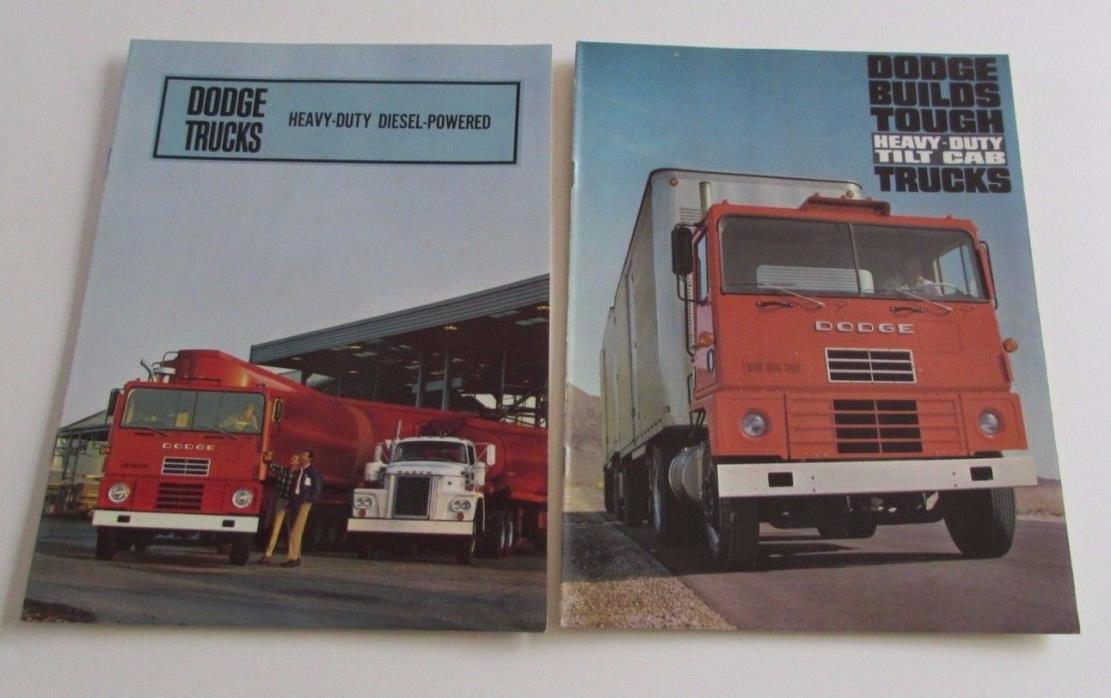 2 1967 1966 Dodge Heavy-Duty Diesel-Powered Tilt Cab Trucks Sales Brochure Semi