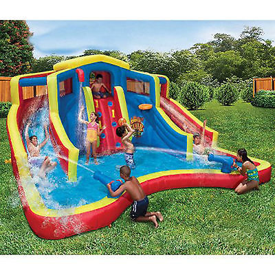 Adventure Club Large Inflatable Water Cannon Slide Park Kid Splash Pool Cool Fun