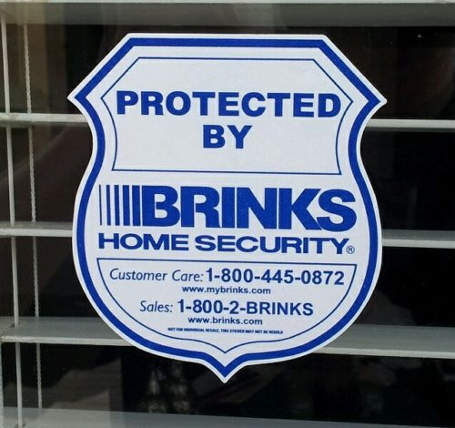 Brinks Home Security Alarm Decals Stickers