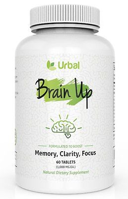Urbal Brain Up Natural Herbal Based Nootropic, Long Term Memory, Clarity, Focus