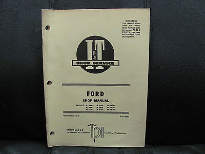 1981 I & T Shop Service Manual FO-39 Ford Tractor 8000 9000 9600 TW-10/20/30