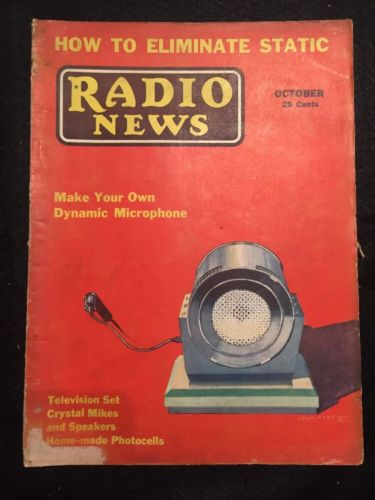 Vintage Radio News Magazine from October 1932