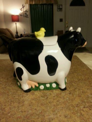 Cookie Club Milk Cow Cookie Jar