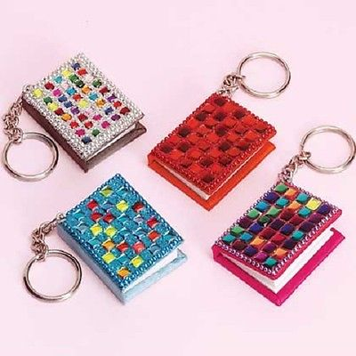 Vintage Mini Beaded ~NOTEBOOK~ Key Chain