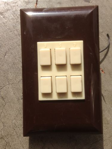 Touch Plate 6 Button Switch