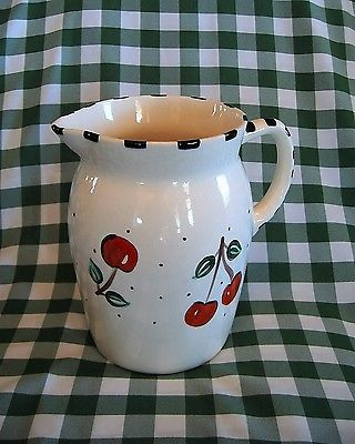 Mary Engelbreit Pitcher with Cherries dated 1994