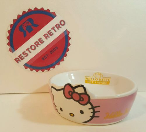 Cute Hello Kitty Dog Cat Pet Food Water Bowl Water Dish Feeder Bowl