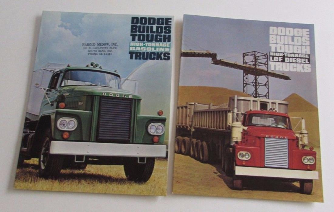 2 1964 1966 Dodge High-Tonnage LCF Diesel Gasoline Trucks Sales Brochure