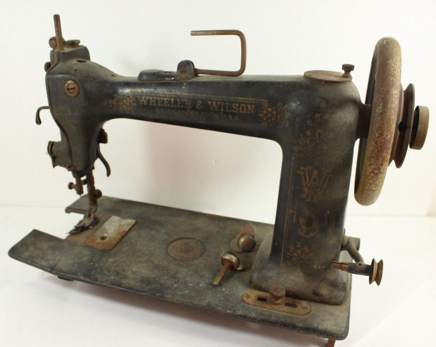 Antique 1890's Wheeler Wilson Sewing Machine D-9 Vintage For Parts Restoration