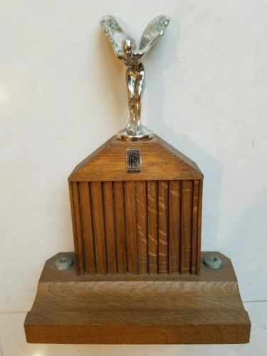 Vintage Pedistal Rolls Royce Grill with Flying Lady