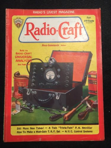 Vintage Radio-Craft Magazine September 1932