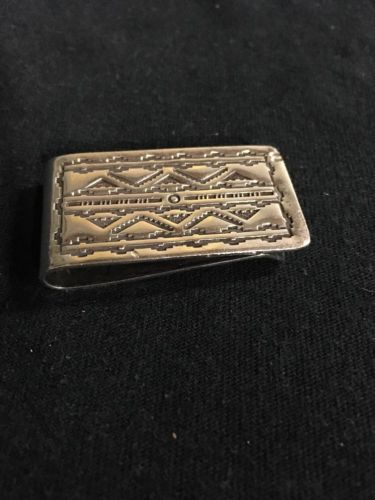 Sterling Silver Money Clip (Aztec)