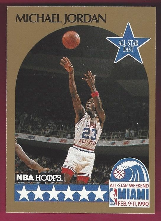1990-91 Hoops Michael Jordan #5 All Star Chicago Bulls