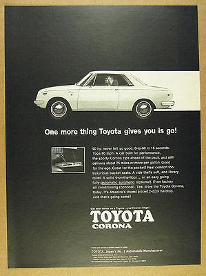 1969 Toyota Corona 2-door Hardtop car photo vintage print Ad