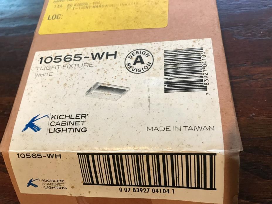 Kichler 10565WH Modular Low V Undercabinet Light Modular 1Lt Xenon 12V/18W White