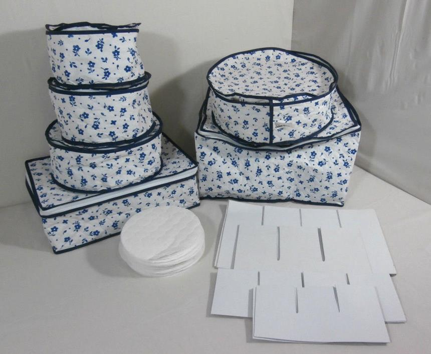 Lillian Vernon Set of Protective Dishware Plastic Containers