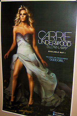 CARRIE UNDERWOOD  Blown Away Full Color Poster Very COOL