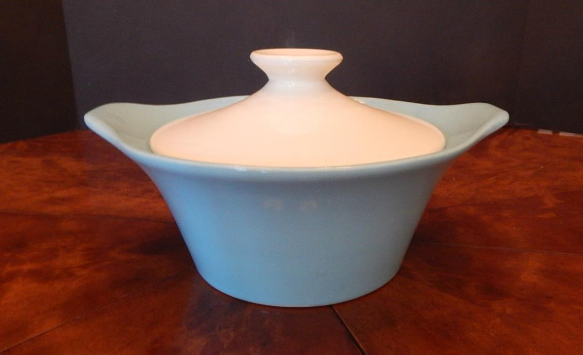 Shawnee, Turquoise & White, Casserole Dish, USA Oven Proof, Midcentury Modern