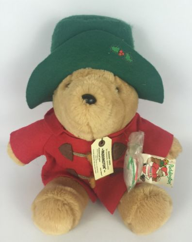 Paddington Bear Plush Teddy Bear and Ornament Christmas 1994 Sears Original Tags