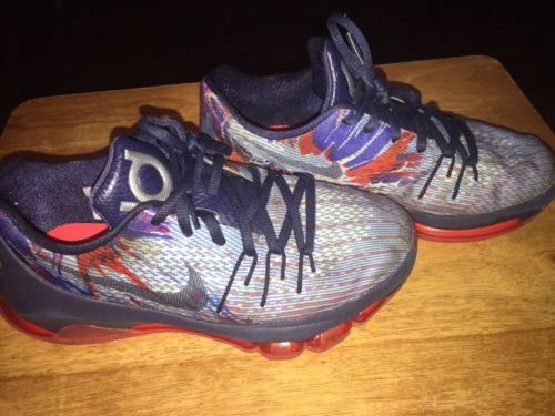 Nike Kevin Durant KD 8 Independence Day Basketball Shoes 768867-446 Size 4Y