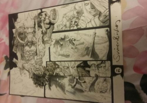 original comic book page art marvel simon bisley signed thor