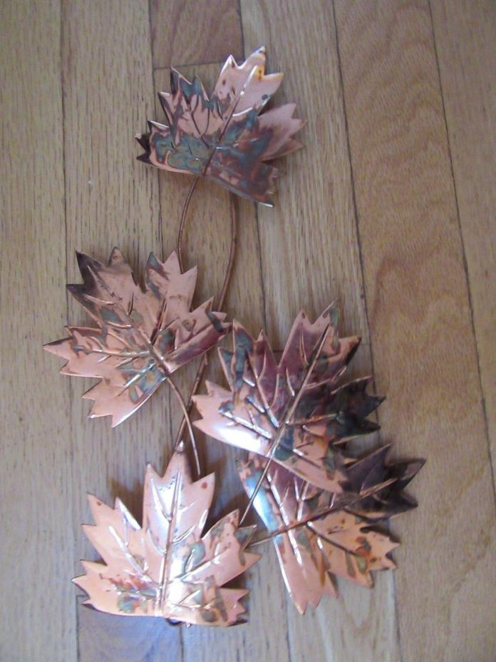 Home Interior Wall decor metal Copper leaves