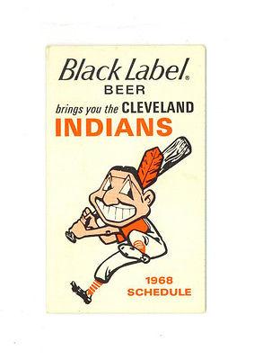 Vintage 1968 Cleveland Indians Baseball Season Schedule