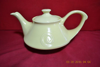 Vintage Yellow Aladdin Lamp TEA FOR TWO  Musical Teapot