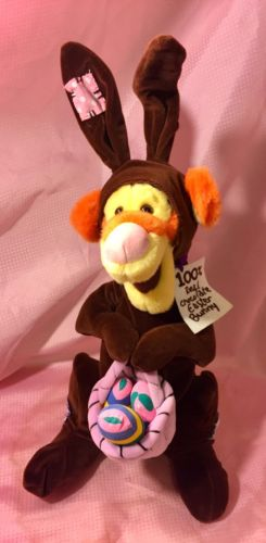 Disney Store Tigger 100% Chocolate Easter Bunny Basket Eggs Plush 18