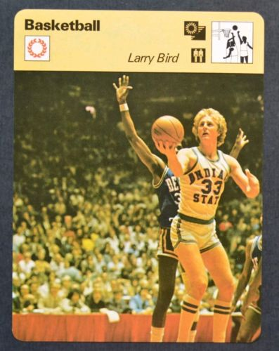 1977-79 SPORTSCASTER SERIES 74 #74-18 LARRY BIRD VERY FIRST CARD ROOKIE RC XRC