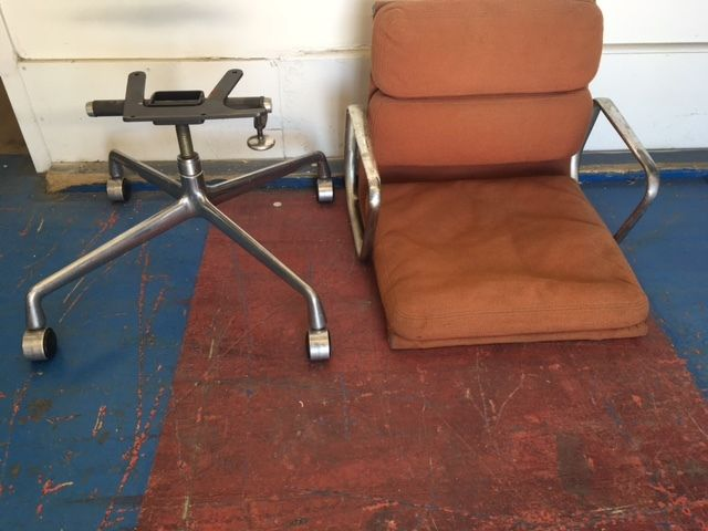 Herman Miller Soft Pad Aluminum Group Office Desk Chair Mid-Century Modern Parts