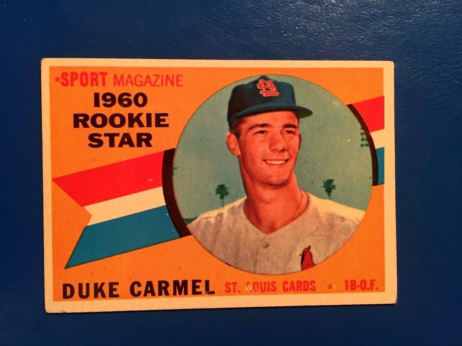 1960 Topps #120 Duke Carmel Rookie Card
