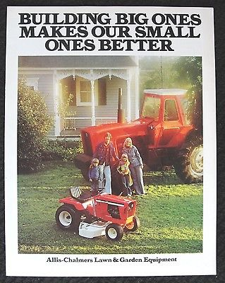 1975 ALLIS CHALMERS 405 608 610 710 712S 712H 716 720 LAWN MOWER TRACTOR CATALOG