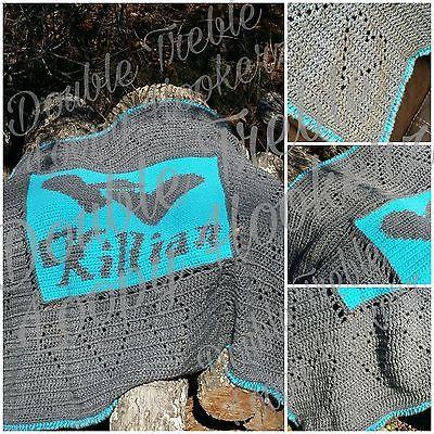 Personalized Handmade Crochet Baby Naming Blanket Afghan Carrier Crib Unisex