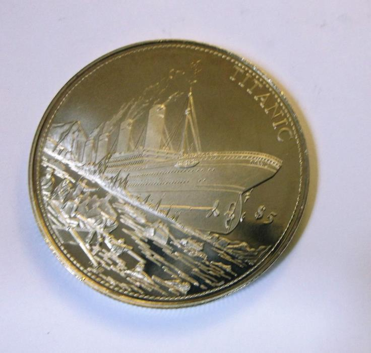 2004 Republic of Liberia Titanic 5 Dollar Coin