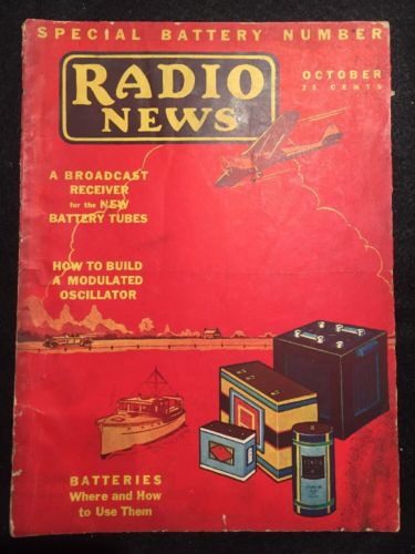 Vintage Radio News Magazine October 1930 - Batteries