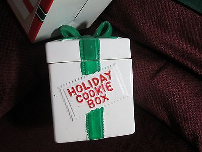 Collectible Cookie Jar vintage Holiday Cooky Box ceramic