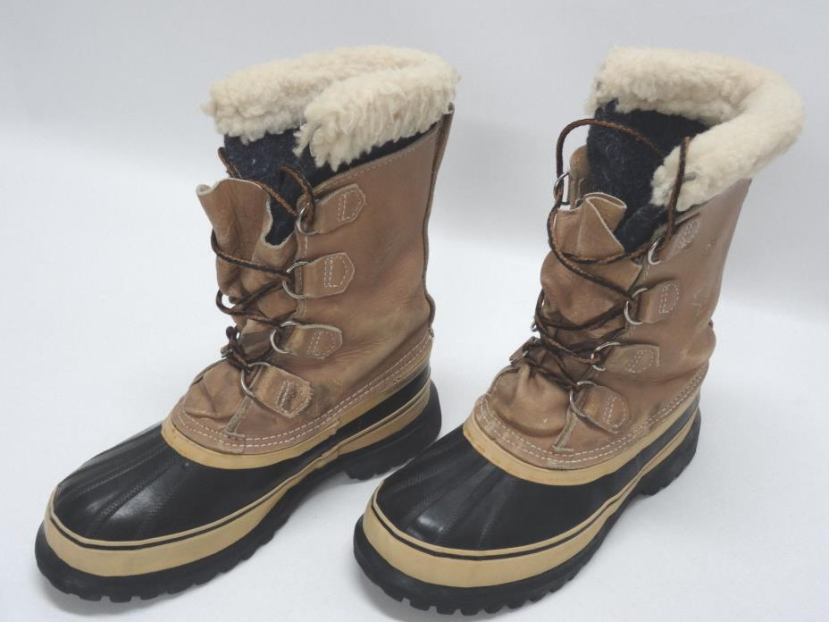 SOREL CARIBOU KAUFMAN UNISEX SNOW BOOTS SIZE 6US-M/8US-W/39EU/5.5-6UK in EUC