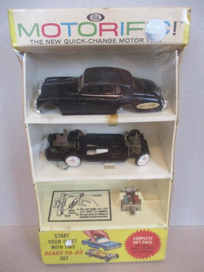 Vintage Motorific Rolls Royce MIP Ideal Quick Change Motor Toy Gift Pack 1964