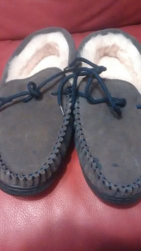 Mens Brumby Moccasin Sheepskin Slippers Size 10