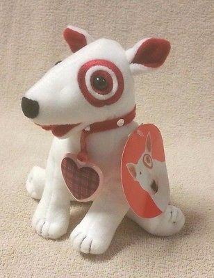 LOVERBOY BULLSEYE 2002 TARGET DOG Plush Stuffed Toy Doll Valentine Mint w/ Tags