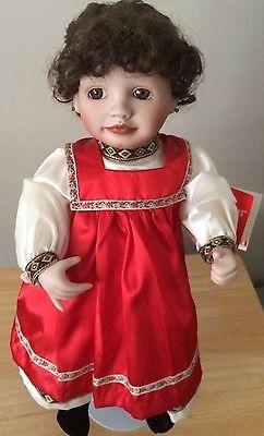 Porcelain Doll Knowles Ukranian Signed 4577C Kathy Hippensteel