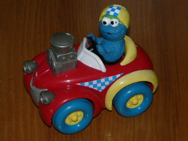 Vintage COOKIE MONSTER Racing Car