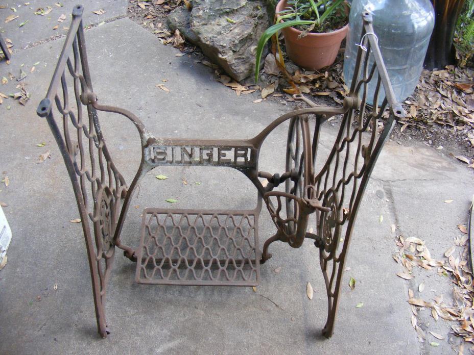 Antique Singer Treadle Sewing Machine Legs Industrial Salvage