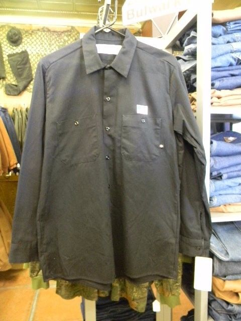 DICKIES BLACK LONG-SLEEVE WORK SHIRT--SIZE XL/T