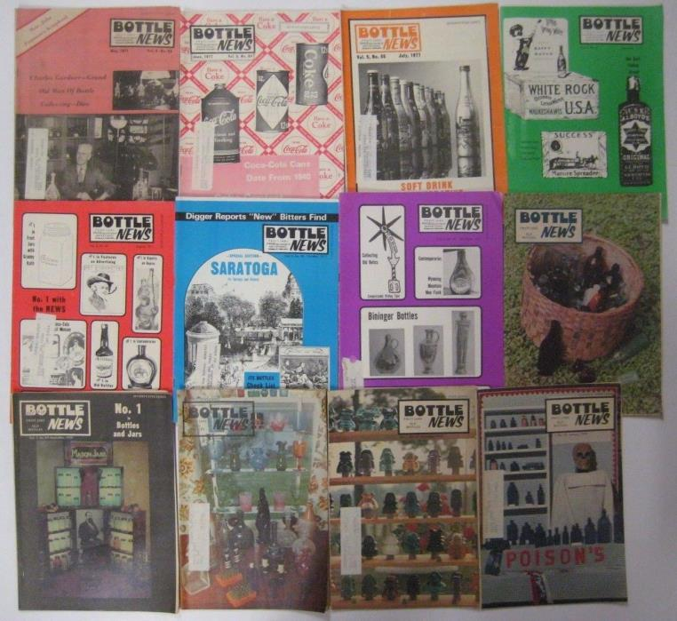 Vintage Lot of 12 BOTTLE NEWS Magazine 1977-79 Antique Collectors Back Issues