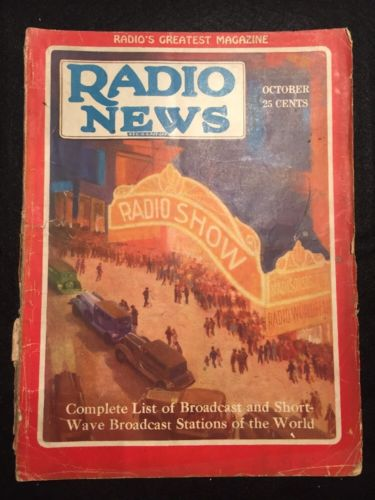 Vintage Radio News Magazine from October 1929